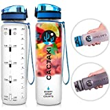 Cactaki Fruit Infuser Water Bottle, 32oz BPA Free Watere Bottle, Non-Toxic, Clear Leak Proof, Time Marker to Track Water Intake