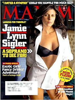 Maxim May, 2006 Jamie Lynn Sigler cover and pictorial