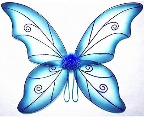 Blue Rubies Girls Light-Up Butterfly Costume Large