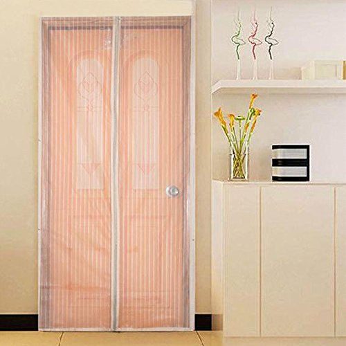 Flyzzz Magnetic Screen Door with Long Magnetic Strip, Hands-Free Mesh Screen Door, Keeps Mosquitoes and Bug Out Let Fresh Air in (Fits Doors Up to 35x94 Inches Max,White) by Flyzzz (Image #7)