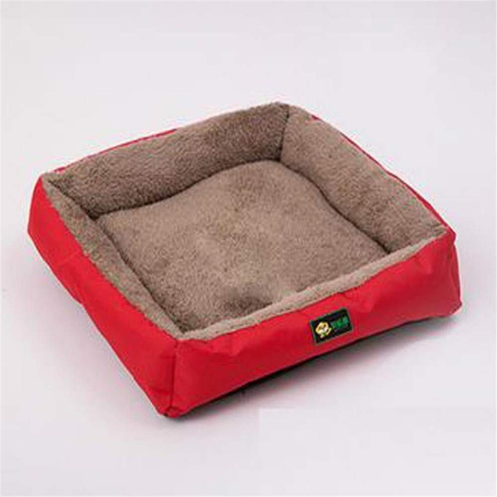 M Wuwenw Selling  Soft Plush Dog Bed Promotion Oxford Cat Puppy Kennel Sofa Cushion House Warm Pet Nest Pad Puppy Red,M
