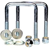 TowZone 86828 Zinc Plated Square U-Bolt-Pair