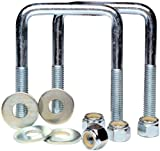 TowZone 86830 Zinc Plated Square U-Bolt - Pair