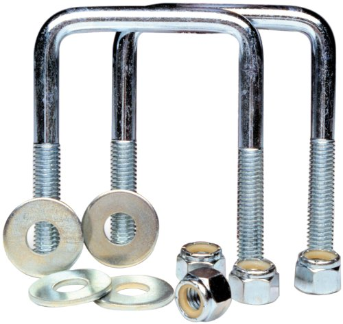 - Tie Down Engineering Silver Standard 86830 U-Bolt Square Pair Zinc Plated 3/8-16