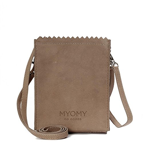 MYOMY My Paper Bag, Borsa a tracolla donna marrone talpa