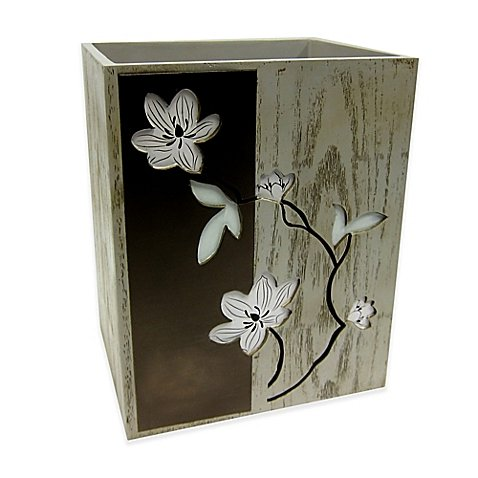Croscill Magnolia Floral Wastebasket