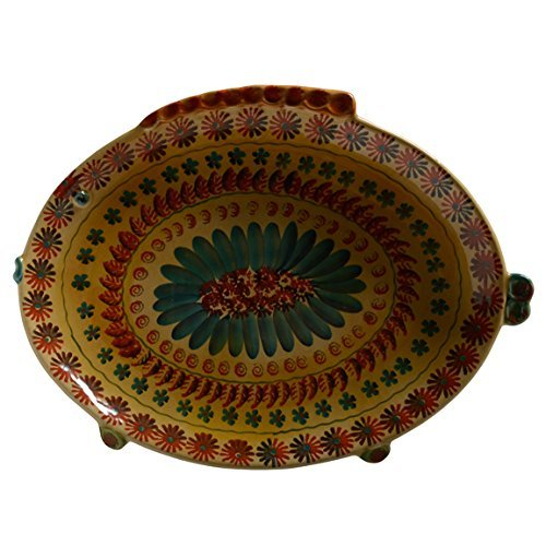 Italian Dinnerware - Large Oval Serving Dish with Fish - Handmade in Italy from our Festa Collection