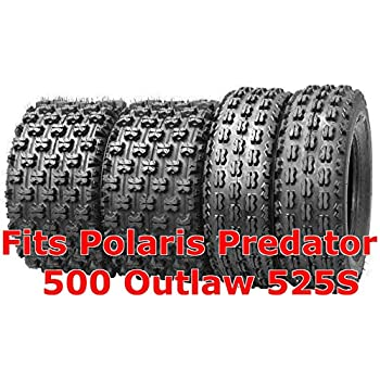 POLARIS OUTLAW 525 AMBUSH SPORT ATV TIRES SET 4 20X10-9 21X7-10