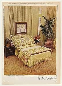 1974 Gloria Vanderbilt Atelier Martex Bed Linen Original Print Ad (43073)