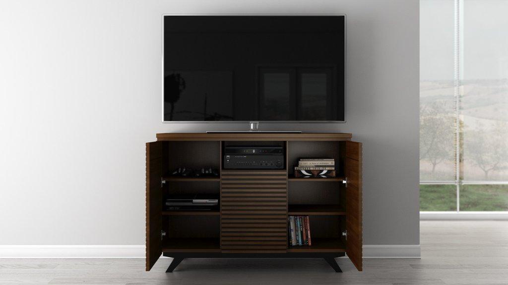 Furnitech 47'' Mid-Century Modern Media Storage Dresser by Furnitech