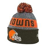 New Era NFL Sideline Cleveland Browns Bobble Knit Beanie Hat