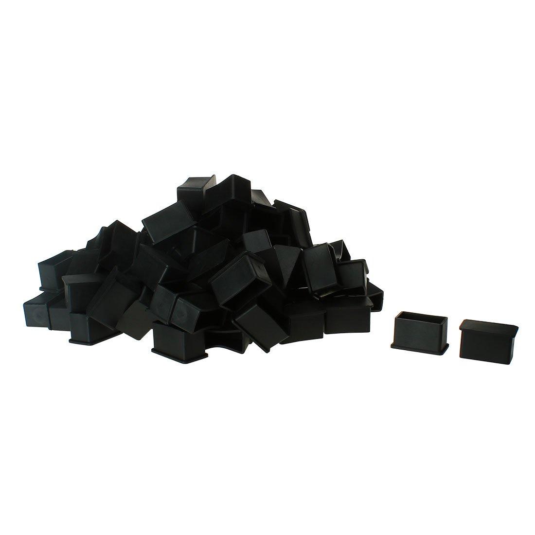 OKSLO Pvc leg caps tips feet covers 20x40mm inner size 100pcs antislip prevent scratch