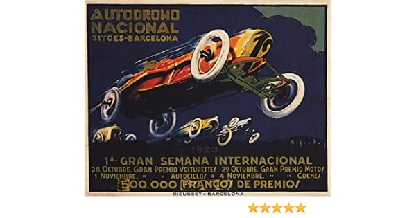 Poster Reproduction. Autodromo Nacional Vintage motor sport advert Wall art
