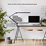 Desk Lamp with Clamp, Eye-Care Swing Arm Desk Lamp, Stepless Dimming & Adjustable Color Temperature Modern Architect Lamp with Memory & Timing Function for Study, Work, Home, Office, 10W