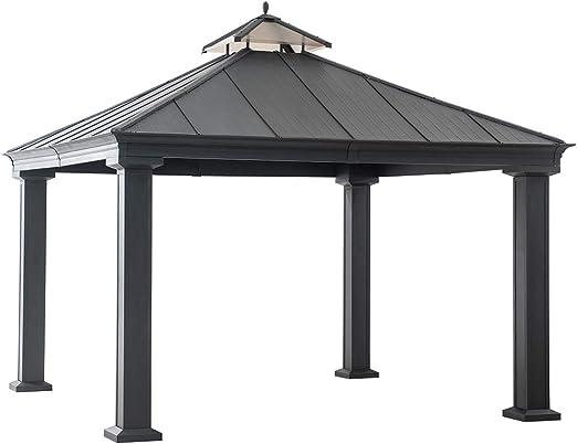 Sunjoy Carpa negra de 30, 48 cm x 30, 48 cm, añade una sombra de Oasis a tu patio trasero: Amazon.es: Jardín