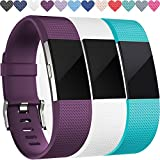 Wepro WP-017  Replacement Bands for Fitbit Charge 2 HR, Buckle, 3 Colors, Small