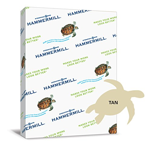 Hammermill Paper, Colors Tan, 20lbs, 8.5 x 11,  Letter, 500 Sheets / 1 Ream (102863R), Made in the USA