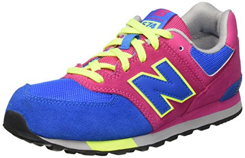 New Balance 574 Cut And Paste, Scarpe da Ginnastica Basse Unisex Bambini Multicolore (Blue/Pink)