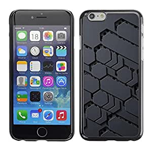 FECELL CITY // Duro Aluminio Pegatina PC Caso decorativo Funda Carcasa de Protección para Apple Iphone 6 Plus 5.5 // Sci-Fi Pattern Alien Grey Pc Gamer