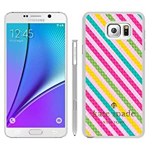 Genuine Kate Note 5 Case,Kate Spade 63 White Samsung Galaxy Note 5 Screen Phone Case Unique and Nice Design