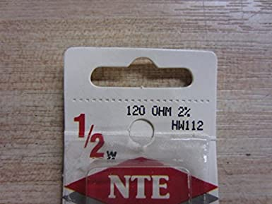 500V NTE Electronics 2W116 Resistor Pack of 2 Inc. 160 Ohm Resistance 2W Axial Leaded 2/% Tolerance Metal Oxide Film Flameproof