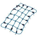 HobbyPark 1/10 RC Rock Crawler Elastic Luggage Net for Traxxas TRX-4 Trx4 Axial SCX10 90046 Tamiya CC01 RC4WD D90 D110 Scale Car Accessories (Blue)