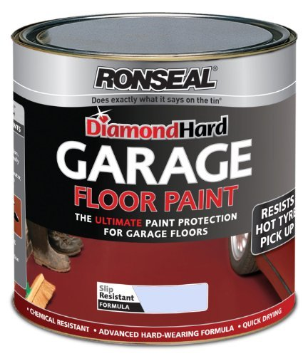 Ronseal DHGFPB25L 2.5L Diamond Hardgarage Floor Paint - Steel Blue by Ronseal