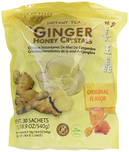 Prince of Peace Ginger Ginger Honey Crystals 30 (0.63 oz.) (a) - - Instant Tea Ginger Honey Crystal