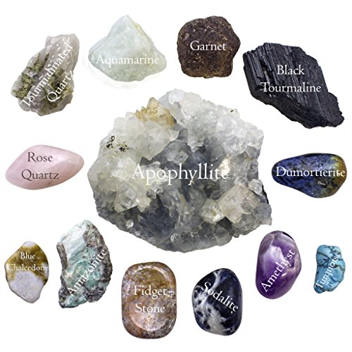 - Anxiety and Worry Bundle; 13pcQuality Handpicked Healing Crystals; Stones for Stress Relief, Reversing Negativity, Self-Worth, and Expression; All Natural Gems with Raw and Tumbled Finishes (Premium)