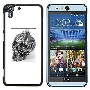 Stuss Case / Funda Carcasa protectora - Cráneo punky Negro Cartel del motorista negro - HTC Desire Eye M910x