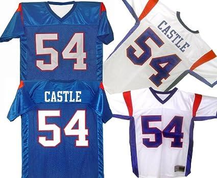dbd27c5825e Amazon.com : Blue Mountain State Football Jersey (White, Men's ...
