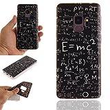 Galaxy S9 Case, For [S9 ], MerKuyom Lightweight IMD [Slim-Fit] Flexible Gel Soft TPU Case Skin Cover For Samsung Galaxy S9 5.8-inch, W/Stylus (Physical Formula Pattern)