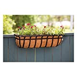 Panacea Products Flat Iron Series 30-Inch Window/Deck Planter, Black