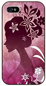 Girl art of flowers - Case For HTC One M8 Cover black plastic case / Flowers and Nature, floral, flower