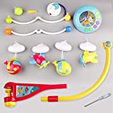 Mini Tudou Musical Baby Crib Mobile Toy with Lights and Music, Star Projector Function and Cartoon Rattles, Remote Control Musical Box with 108 Melodies, Toy for Newborn Sleep