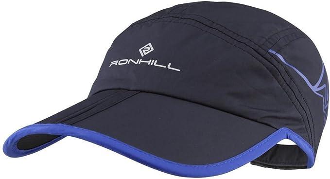 Ronhill Lightweight Split Running Jogging Cap Black//Electric Blue *NEW*