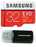 Samsung Galaxy S9 Memory Card 32GB Micro SDHC EVO Plus Class 10 UHS-1 S9 Plus, S9+, Cell Phone Smartphone with Everything But Stromboli (TM) Card Reader (MB-MC32)