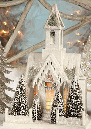 Christmas Decor - Bethany Lowe Designs - Large Ivory Church
