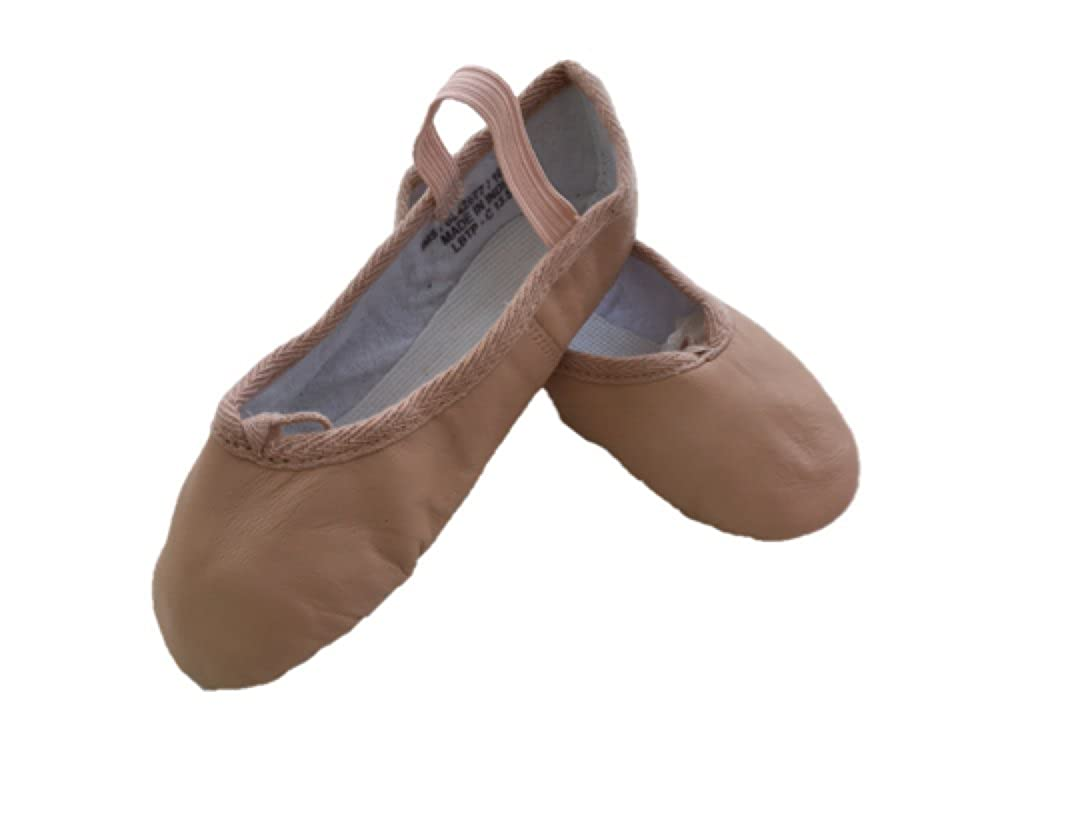 1st Position Pink Leather Ballet Shoes LBT