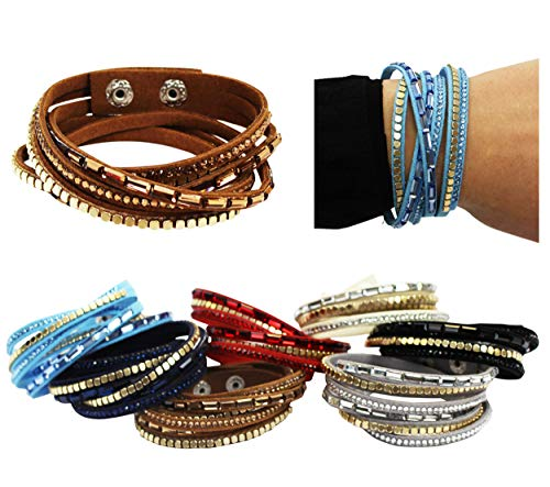 CoverYourHair Multistrand Bracelets - 4 Pack - Wrap Bracelets - Cuff Bracelet - Beaded Multistrand Bracelet