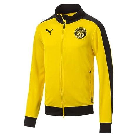 Puma BVB T7 Track Jacket Chaqueta, Hombre, Cyber Yellow, XX-Large