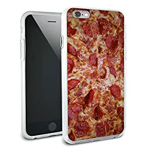 Cheese and Pepperoni Pizza Pie Protective Slim Hybrid Rubber Bumper Case for Apple iPhone 6 6s Plus