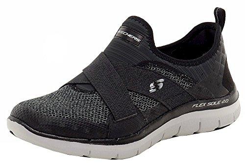 Skechers Shoes Flex Appeal 2.0-New Image Black/Grey Size: 40