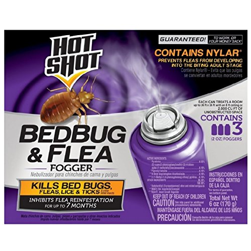 Hot Shot 95911-1 Bedbug and Flea Fogger, 3-Count, 6-Pack