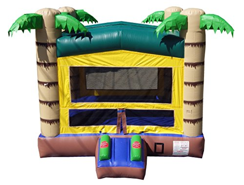 Pogo Tropical Commercial Grade Bounce House, Inflatable Palm Tree Bouncer, Blower Included (Tree Blower)
