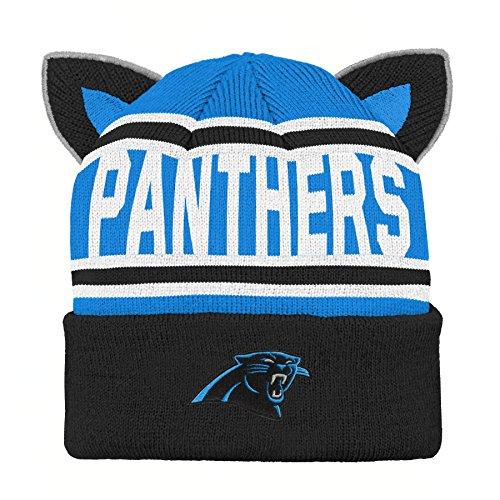 Carolina Acrylic - Outerstuff NFL Carolina Panthers Team Ears Fleece Knit Hat Black, Infant One Size