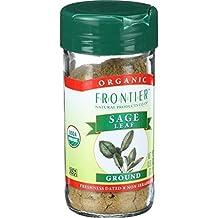 Frontier Sage Leaf Ground ORGANIC 0.80 oz. Bottle