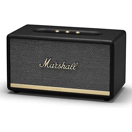 chollos oferta descuentos barato Marshall Stanmore II Voice 80 W Altavoz Portátil Estéreo Negro Altavoces Portátiles 2 0 Canales 80 W 50 20000 Hz 101 dB Inalámbrico y alámbrico 2 4 5 GHz EU