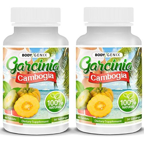UPC 685450657525, BODYGENIX 80% HCA Garcinia Cambogia Weight Loss Supplement, Diet Pills, For Men, For Women, 100% Natural