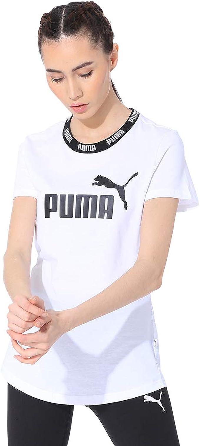 PUMA Damen T Shirt Amplified Tee: : Bekleidung